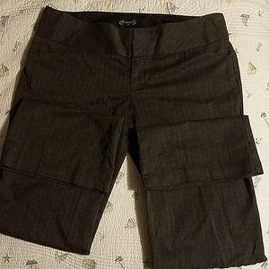 Spacegirlz Woman size 11 Charcoal Grey Dress Pants